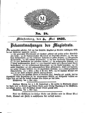 M on May 5, 1837