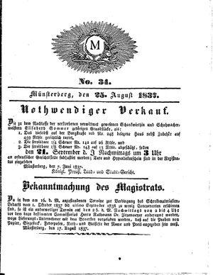 M vom 25.08.1837