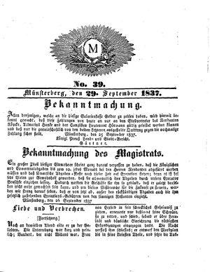 M vom 29.09.1837