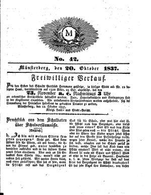M vom 20.10.1837