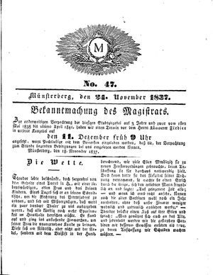 M vom 24.11.1837