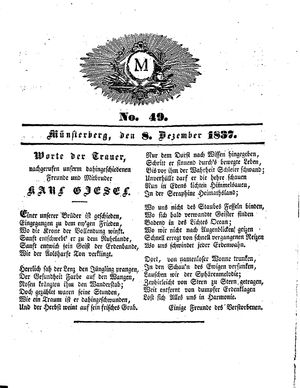 M on Dec 8, 1837