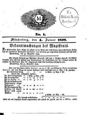 M vom 04.01.1839