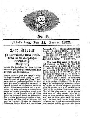 M on Jan 11, 1839