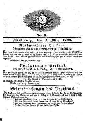 M vom 01.03.1839