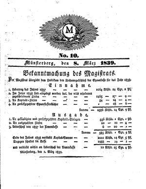 M vom 08.03.1839
