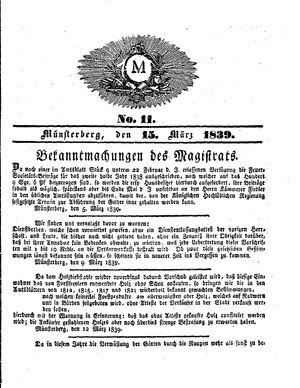 M vom 15.03.1839