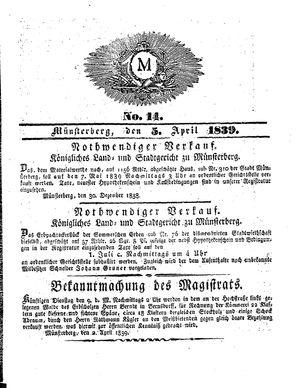 M vom 05.04.1839