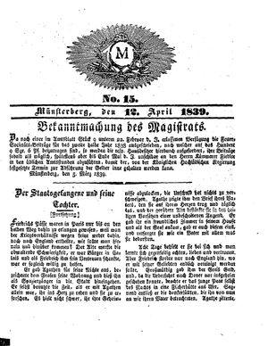 M vom 12.04.1839