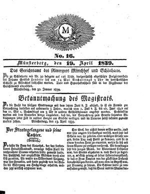 M vom 19.04.1839