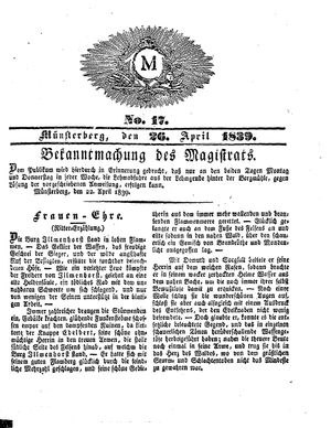 M vom 26.04.1839