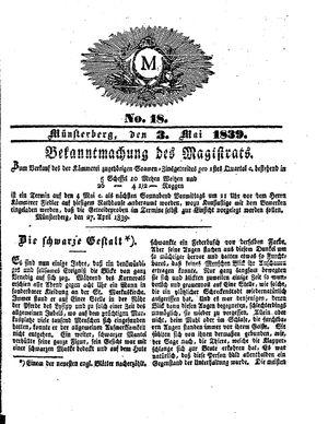 M vom 03.05.1839