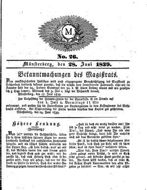 M on Jun 28, 1839