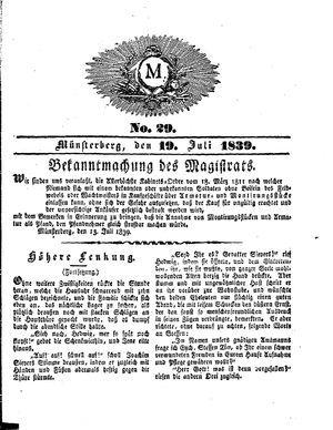 M vom 19.07.1839