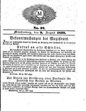 M vom 09.08.1839