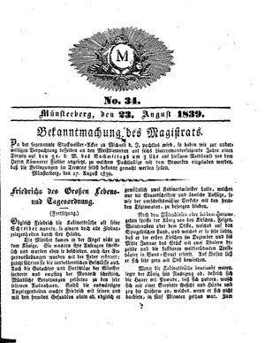 M vom 23.08.1839