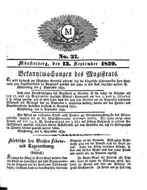 M vom 13.09.1839