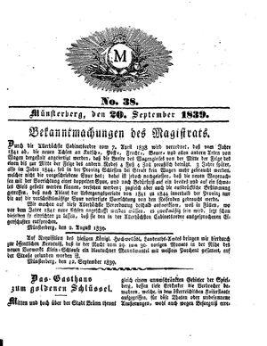 M vom 20.09.1839