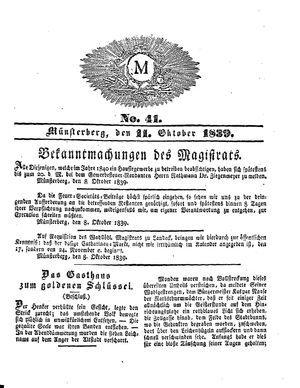 M on Oct 11, 1839