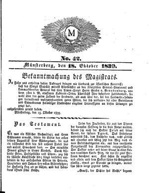 M vom 18.10.1839