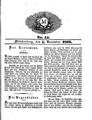M vom 01.11.1839