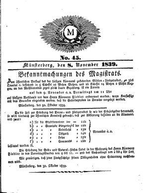 M vom 08.11.1839