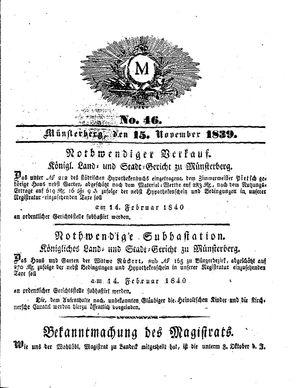 M vom 15.11.1839