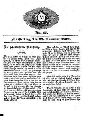 M on Nov 22, 1839