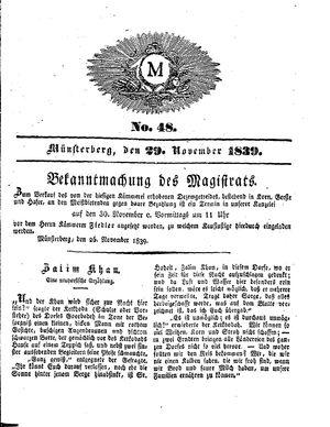 M vom 29.11.1839
