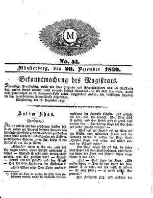 M vom 20.12.1839