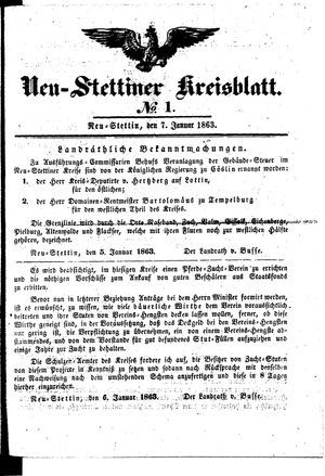 Neustettiner Kreisblatt vom 07.01.1863