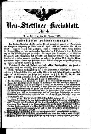 Neustettiner Kreisblatt vom 28.01.1863
