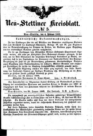 Neustettiner Kreisblatt vom 04.02.1863