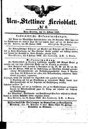 Neustettiner Kreisblatt vom 11.02.1863