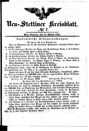 Neustettiner Kreisblatt on Feb 18, 1863
