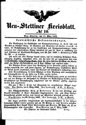 Neustettiner Kreisblatt on Mar 11, 1863