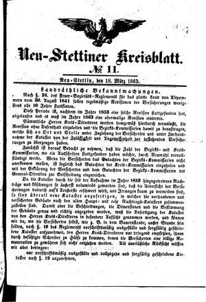 Neustettiner Kreisblatt vom 18.03.1863