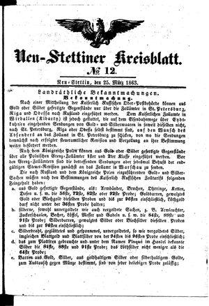 Neustettiner Kreisblatt vom 25.03.1863