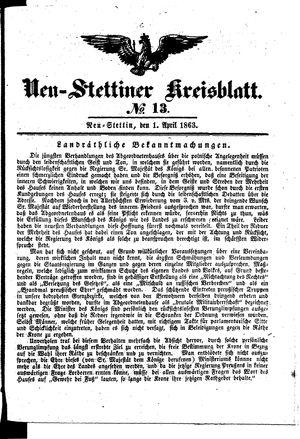 Neustettiner Kreisblatt vom 01.04.1863