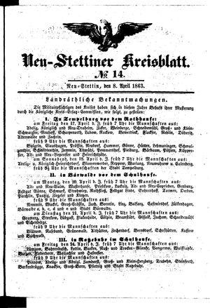 Neustettiner Kreisblatt vom 08.04.1863