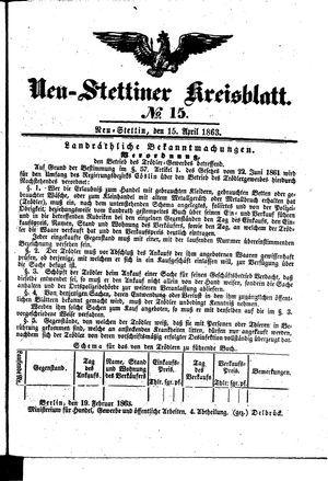 Neustettiner Kreisblatt vom 15.04.1863