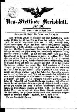 Neustettiner Kreisblatt vom 22.04.1863