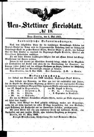 Neustettiner Kreisblatt vom 06.05.1863