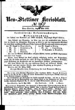 Neustettiner Kreisblatt vom 13.05.1863