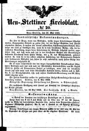 Neustettiner Kreisblatt vom 20.05.1863