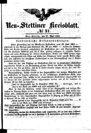 Neustettiner Kreisblatt vom 27.05.1863