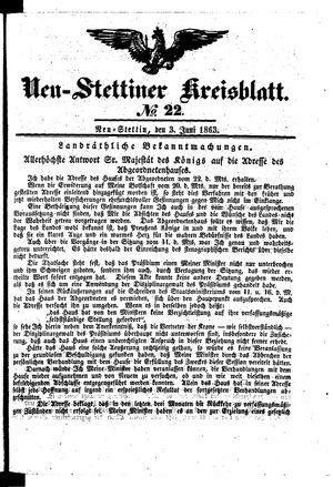 Neustettiner Kreisblatt vom 03.06.1863