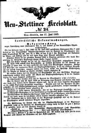 Neustettiner Kreisblatt vom 17.06.1863