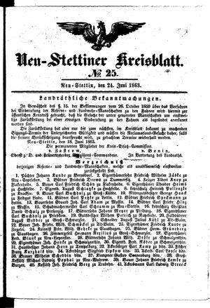 Neustettiner Kreisblatt vom 24.06.1863
