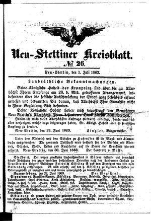 Neustettiner Kreisblatt vom 01.07.1863